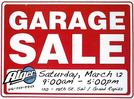 Alger Cyclery Annual Garage Sale