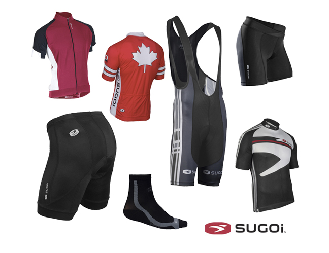 Save on Sugoi cycling clothes at algerbikes