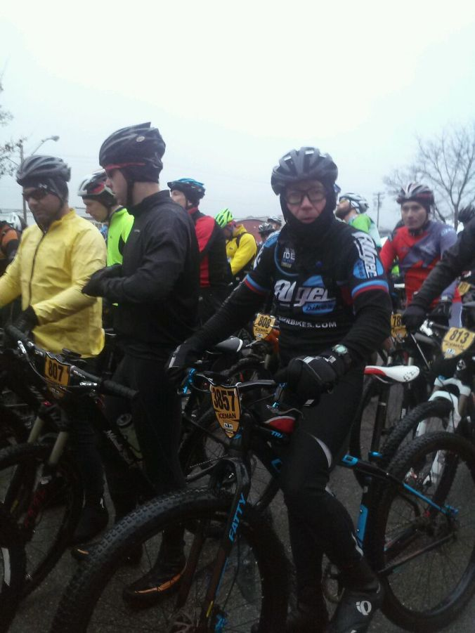 Just before the start.