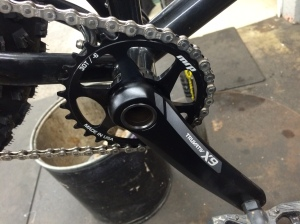 X9 Crank with Spiderless Wolf Tooth ring.